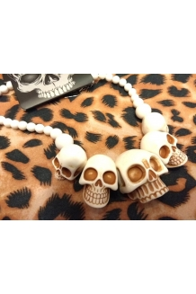 Kreepsville 666 super White colour skull necklace UK P&P Included