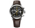 Raymond Weil Freelancer Black Dial Brown Leather..