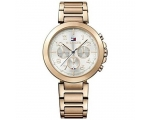 Tommy Hilfiger Rose Gold-tone Silver Dial Ladies..