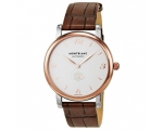 Montblanc Star Classique White Dial Brown Leathe..