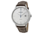 Montblanc Automatic Silver Dial Brown Leather Me..