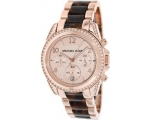 Michael Kors Blair Rose Dial Rose Gold-tone Ladi..