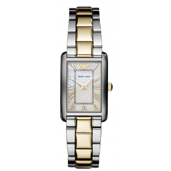 85cbb07d28 Armani AR1739 Classic Silver Gold Two Tone Designer Watch