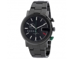 Gucci Men's YA101331 G-Chrono Black PVD Guilloch..