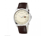 Gucci G-Timeless YA126303 Ivory Dial Leather Str..