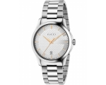 Gucci YA126442 Gold Indices Silver Dial Bracelet..