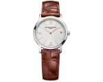 Baume and Mercier MOA10147 Silver Dial Brown Lea..
