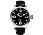 Nautica A12561G Black Dial Black Leather Mens Wa..
