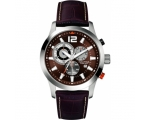 Nautica A15548G Gents Brown Leather Chronograph ..