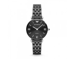 Armani Women's Retro AR1487 Black Ceramic Watch ..