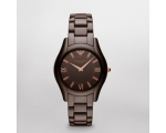 Emporio Armani AR1445 Ladies Brown Ceramica Watch