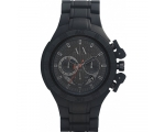 Armani Exchange Black Dial Black Aluminium Mens ..