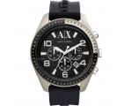 Armani Exchange Chronograph Black Dial Black Rub..