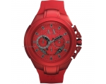Armani Exchange Chronograph Red Dial Red Alumini..