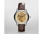 Emporio Armani AR4627 Mens Brown Leather Strap M..