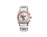 Brillier 01.4.3.4.13.2 Mens White Chronograph Me..