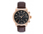 Bulova Accutron 64C104 Mens Gemini Brown Leather..