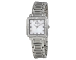 Bulova Watches 96R107 Ladies Diamonds Silver Whi..