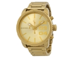 Diesel Double Down Chronograph Gold-tone Dial St..