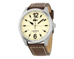 Lacoste Montreal Cream Dial Brown Leather Mens W..