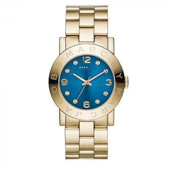 54a373438 Marc by Marc Jacobs Amy Blue Dial Gold-tone Ladies Watch MBM3303