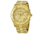 Marc Jacobs Blade Gold Dial Gold-Tone Steel Ladi..