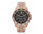 Michael Kors Everest Black Dial Rose Gold-tone L..