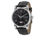 Montblanc Star Black Dial Leather Strap Automati..