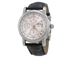 Montblanc Star Chronograph UTC Silver Dial Leath..