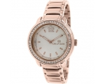 Tommy Hilfiger Silver Dial Rose Gold-tone Ladies..