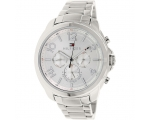 Tommy Hilfiger 1781391 Silver Analog Day Date Un..