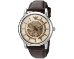 Emporio Armani Men's AR1982 Dress Brown Leather ..