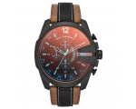 Diesel Chronograph DZ4305 Red Dial Brown Leather..