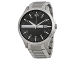 Armani AX Exchange Black Dial Stainless Steel Me..