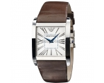 Emporio Armani Men's Quartz AR2008 Slim with Lea..