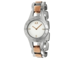 Armani Exchange White Dial Two-Tone Steel Ladies..