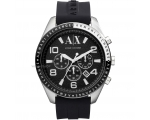 Armani Exchange Black Dial Stainless Steel Mens ..