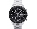 Carrera Automatic Chronograph Black Dial Stainle..