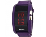 Diesel Digital Dial Purple Silicone Mens Digital..