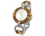 Gucci Women's YA132403 Bamboo Silver Sun-Brushed..