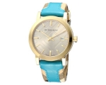 Burberry BU9018 Beige Date Dial Leather Women's ..