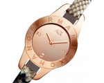 Armani Exchange Rose Gold-Tone Python-Stamped La..