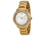Tommy Hilfiger Silver Dial Gold-tone Ladies Watc..