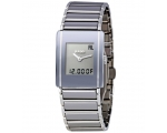 Rado Integral Multi Fun Midi Platinum Toned Cera..