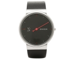Skagen Ancher Black Dial Leather Men's Watch SKW..