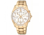 Citizen Womens FB1253-54A Gold Tone Eco-Drive Ch..