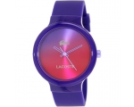 Lacoste Goa Three-Hand Purple Silicone Unisex wa..