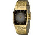 Accurist MB847BR Gents Gold Tone Brown Dial Brac..