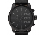 Diesel Chronograph Black Leather Strap Mens Watc..