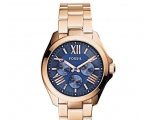 Fossil AM4566 Blue Dial Rose Gold Steel Women's ..